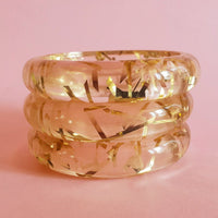 Grace Lucite confetti bracelet - Gold thread * SALE! * - Bow & Crossbones LTD
