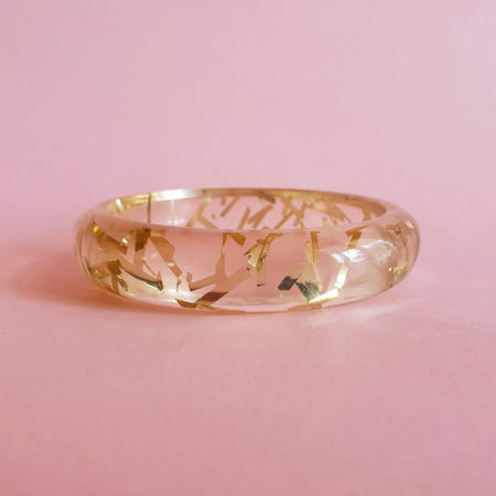 Grace Lucite confetti bracelet - Gold thread