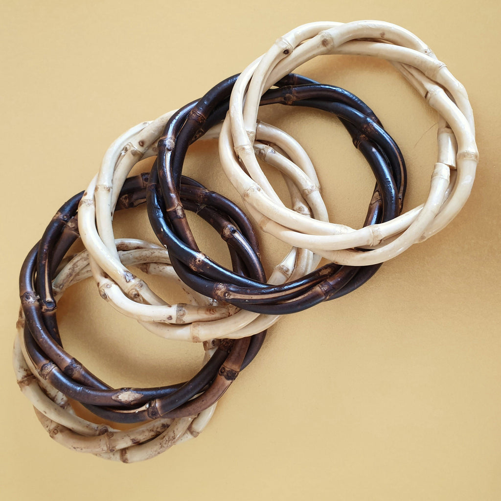 Kitsch Twisted Bamboo Bangle - More Colours & More Qtys!