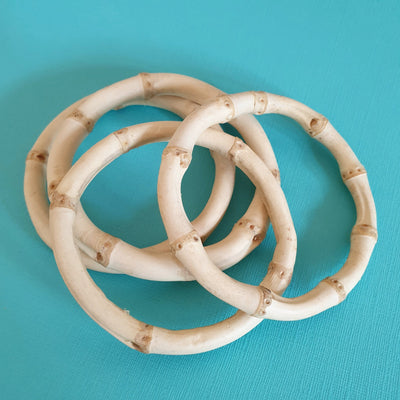 Bamboo Bangle - Round - More Colours & Sizes! - Bow & Crossbones LTD