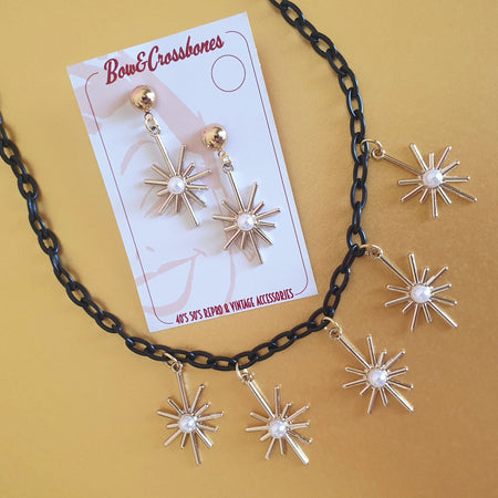 Starburst necklace - Gold - Bow & Crossbones LTD