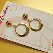 Juliette classic gold hoop earrings - Bow & Crossbones LTD