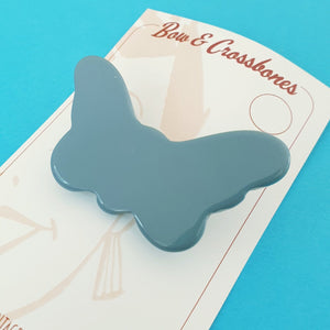 Penelope Butterfly Brooch - Cornflower Blue * Sale! * - Bow & Crossbones LTD