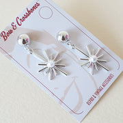 Starburst Earrings - Silver * Limited Edition * - Bow & Crossbones LTD