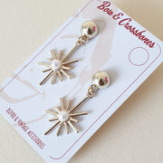 Starburst Earrings - Gold * Limited Edition * - Bow & Crossbones LTD