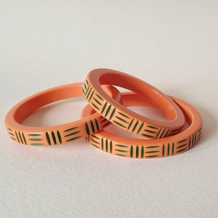Kane Wicker Thin Bangle - Pumpkane- More Sizes! *Limited Edition* - Bow & Crossbones LTD