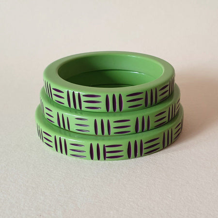 Kane Wicker Thin Bangle - Frankanestein - More Sizes! *Limited Edition* - Bow & Crossbones LTD