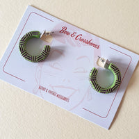 Kane Wicker Hoop Stud Earrings - Frankanestein *Limited Edition* * SALE! * - Bow & Crossbones LTD