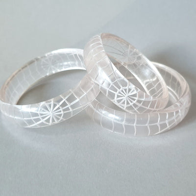 Corday Spider Web Bangle *Limited Edition* - More sizes! - Bow & Crossbones LTD