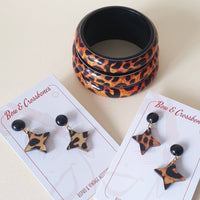 Leopard Bangle - Darker Shade - More Sizes! - Bow & Crossbones LTD
