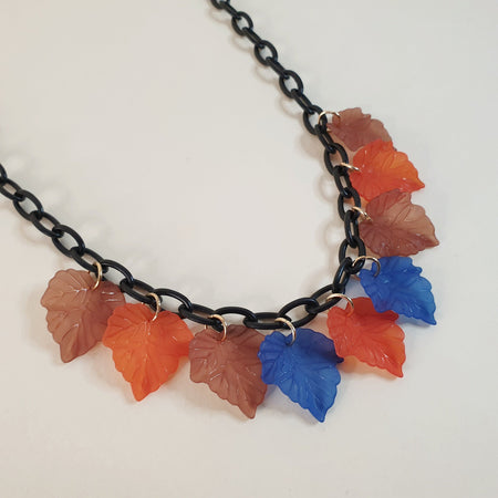 Ruby Leaf Necklace - Fall - More colours! - Bow & Crossbones LTD