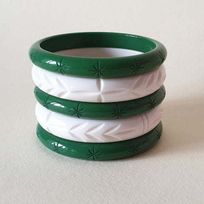 Mistletoe Pre-made Bangle Stack  - Queenie - Bow & Crossbones LTD