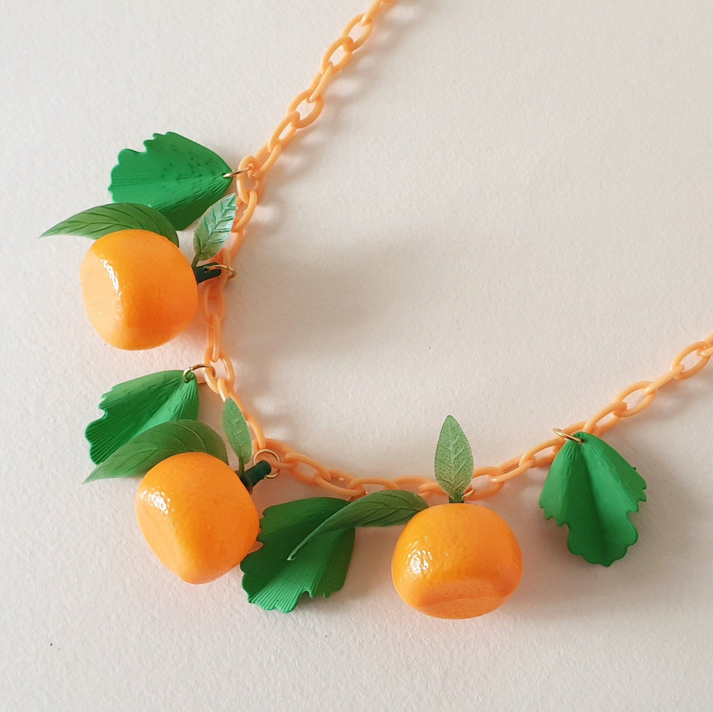 Orange Fruit Necklace *Limited Edition* Bow & Crossbones