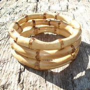 Tiki Bamboo Bangle - Round - More Colours & More Qtys!, , Bracelet, Bow & Crossbones, Bow & Crossbones   - 1