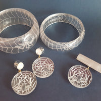 Corday spider web thin bangle - Clear *sale!* - Bow & Crossbones LTD