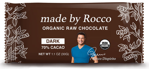 Rocco's Raw Vegan Organic Dark Chocolate Bliss Bar-3pack