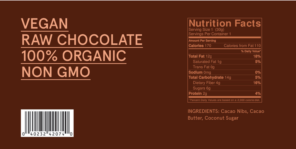 Rocco Organic Dark Chocolate - Three Pack