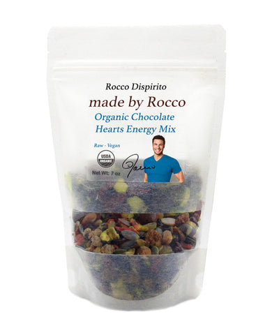 Rocco's Raw VEGAN Organic  Chocolate Hearts Energy Mix
