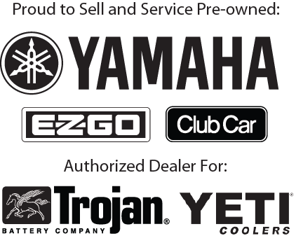Yamaha, EZGO, Club Car, Trojan, Yeti Coolers