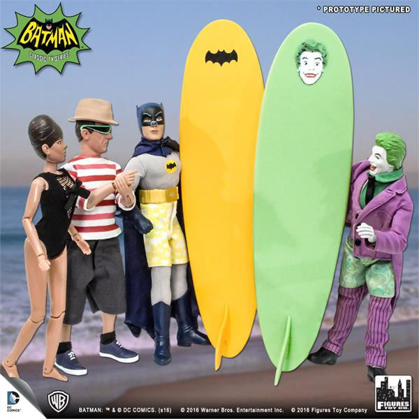 Batman Classic 1966 TV Series Retro Figurines: Surfing Series Set of 4