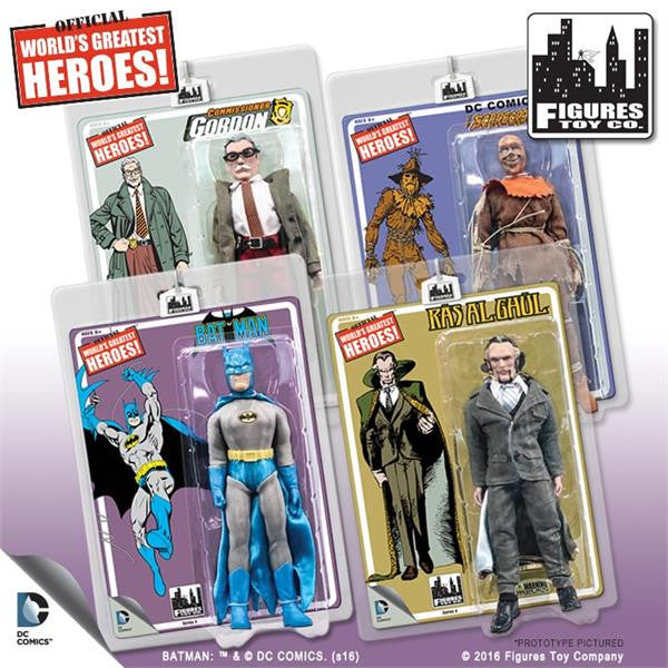 Batman Retro 8 Inch Action Figures Series 4: Set of all 4