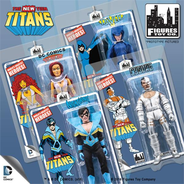 The New Teen Titans Retro 8 Inch Action Figures Series 1: Set of all 4