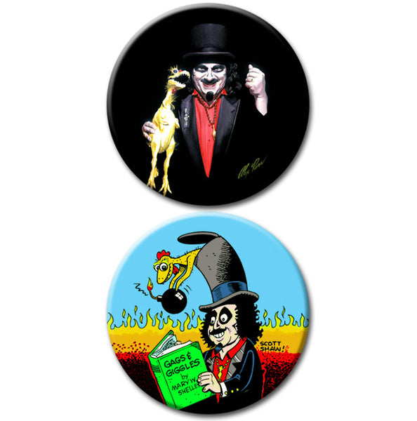 Alex Ross / Scott Shaw Limited Edition Svengoolie Buttons: Set 3