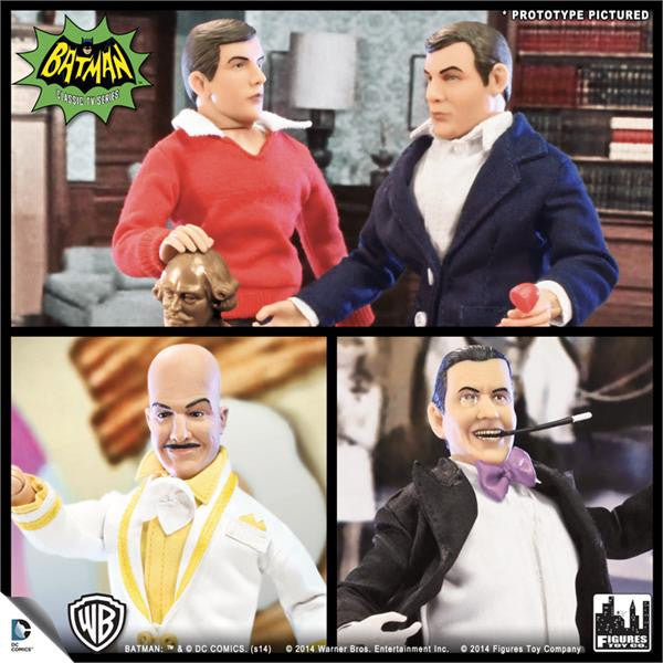 Batman Classic TV Series 8 Inch Deluxe Figurines: Set of 4 (B)