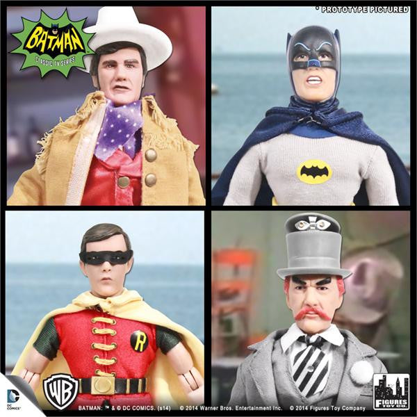Batman Classic TV Series 8 Inch Deluxe Figurines: Set of 4 (C)