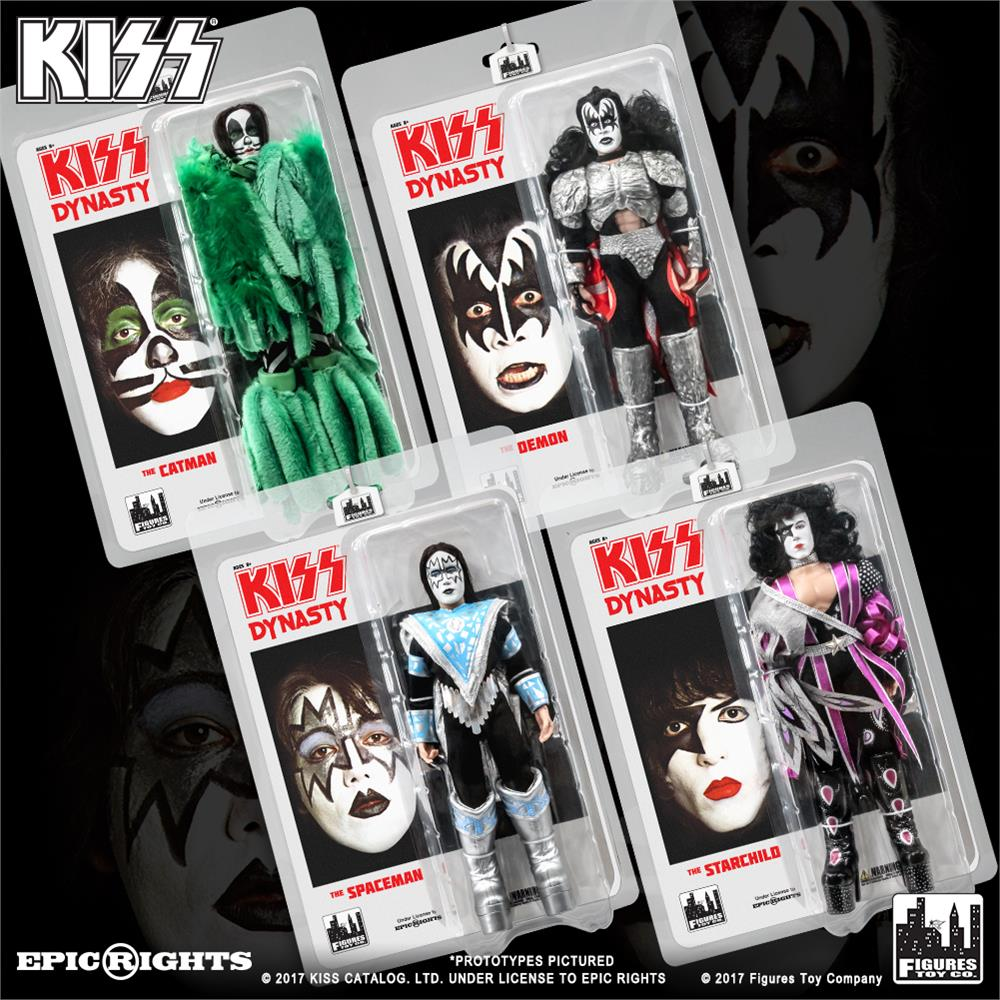 KISS 8 Inch Action Figures Series 8 Dynasty: Set of all 4