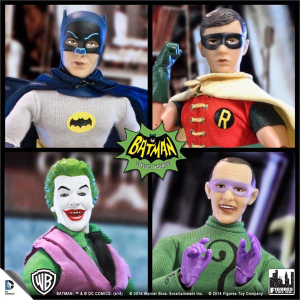 Batman Classic TV Series 8 Inch Deluxe Figurines: Set of 4 (A)