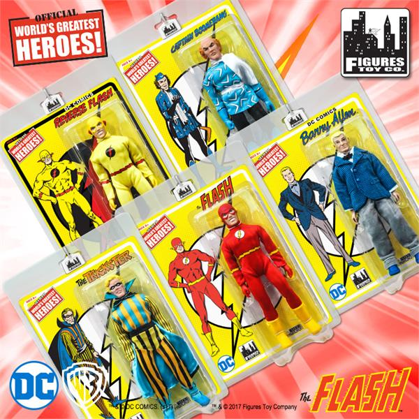 Flash Retro 8 Inch Action Figures Series 1: Set of all 5