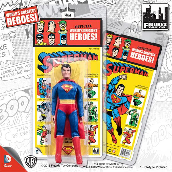 DC Comics Retro Kresge Style Action Figures Series 1: Superman