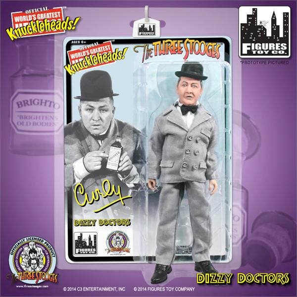 The Three Stooges 8 Inch Deluxe Figurine: Dizzy Doctors Curly