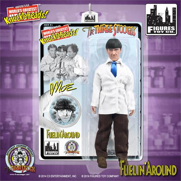 The Three Stooges 8 Inch Deluxe Figurine: Fuelin' Around Moe