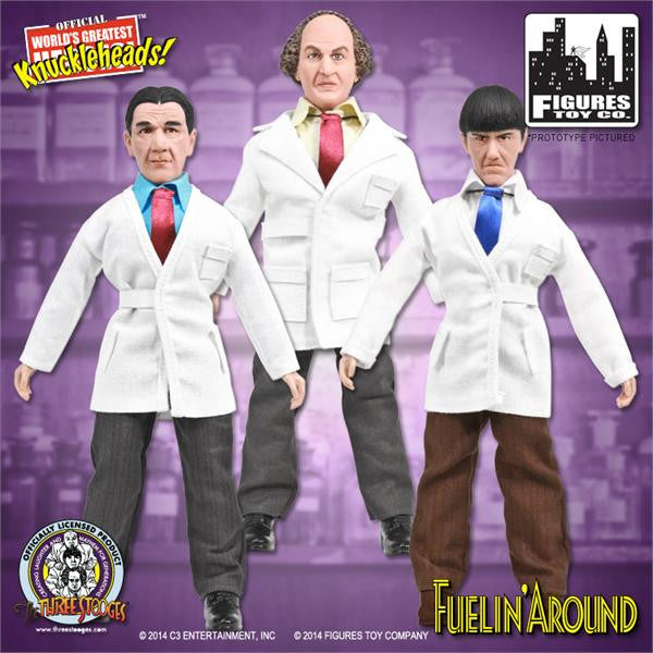 The Three Stooges 8 Inch Deluxe Figurines: Fuelin' Around Set of 3