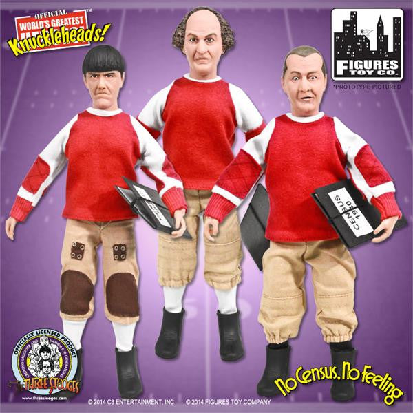 The Three Stooges 8 Inch Deluxe Figurines: No Census, No Feeling Set of 3