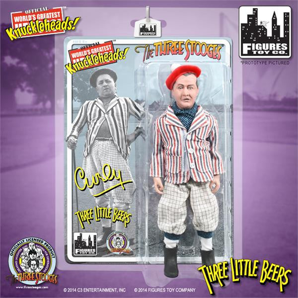 The Three Stooges 8 Inch Deluxe Figurine: Three Little Beers Curly