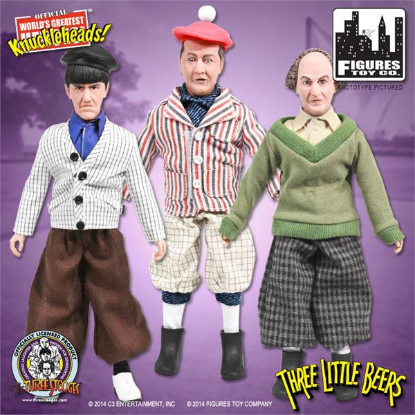 The Three Stooges 8 Inch Deluxe Figurines: Three Little Beers Set of 3