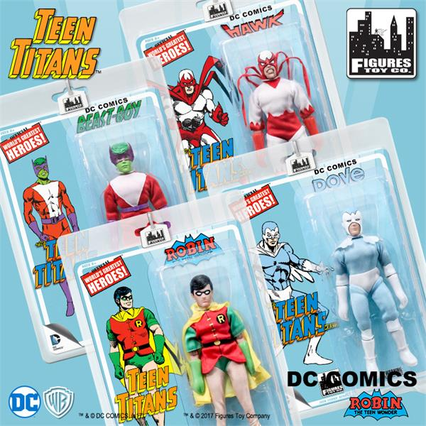 Teen Titans 7 Inch Action Figures Series Two: Set of all 4