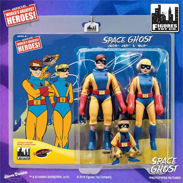 Space Ghost Retro 8 Inch Action Figures Series: Jace, Jan & Blip Three Pack