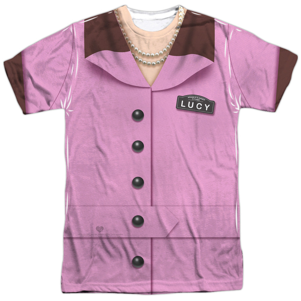 I Love Lucy - Chocolate Factory Costume (front & back)