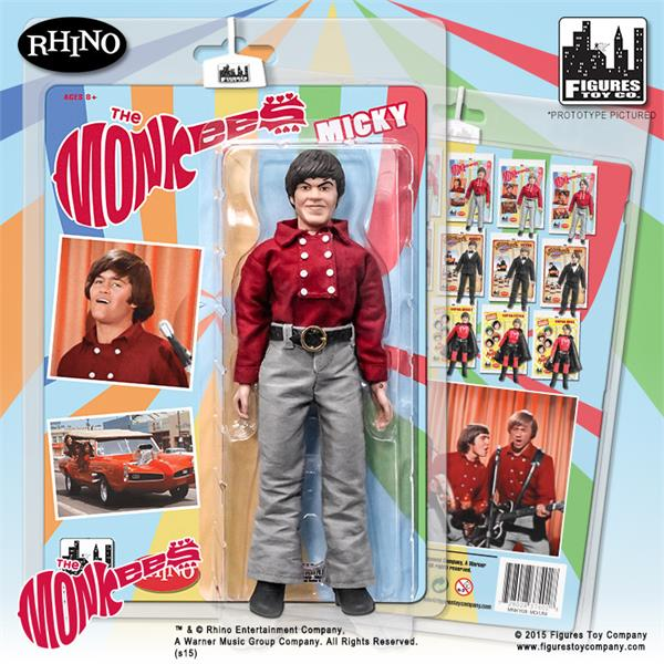 The Monkees 8 Inch Action Figures Series One Red Band Outfit: Micky Dolenz
