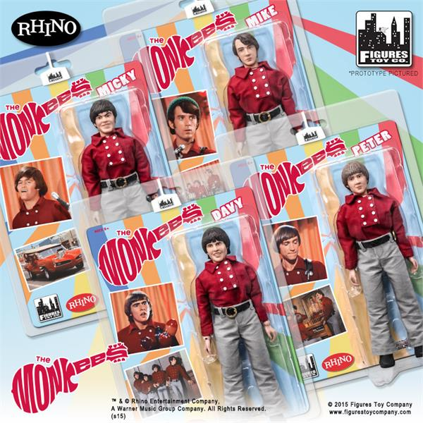 The Monkees 8 Inch Action Figures Series One Red Band Outfit: Set of all 4