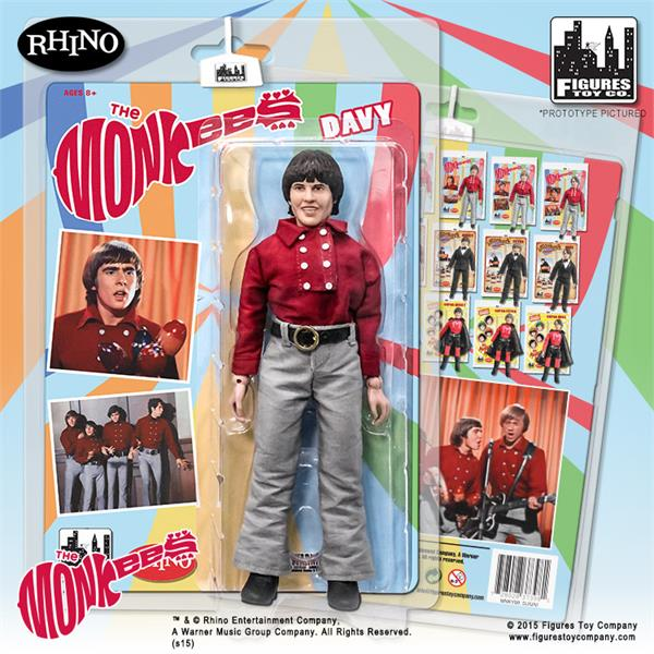 The Monkees 8 Inch Action Figures Series One Red Band Outfit: Davy Jones
