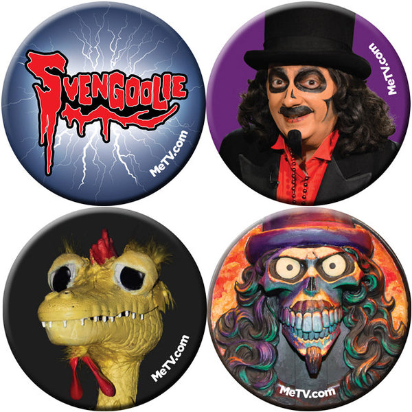 Limited Edition Svengoolie Buttons: Set 1