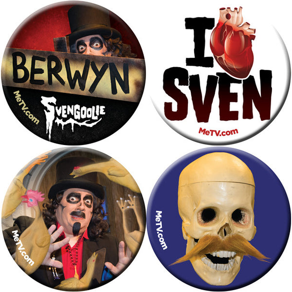 Limited Edition Svengoolie Buttons: Set 2