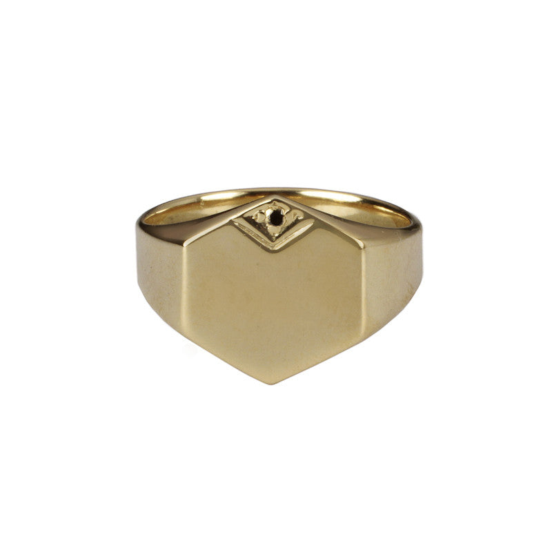 Hexo Signet Ring Bronze (Gold)