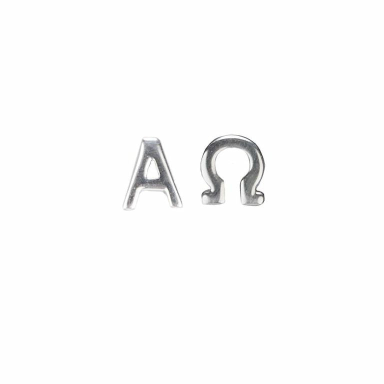 Alpha Omega Stud Earrings