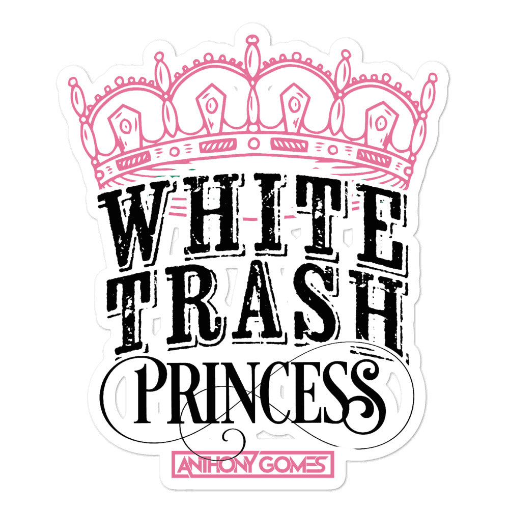 White Trash Princess Bubble-free stickers